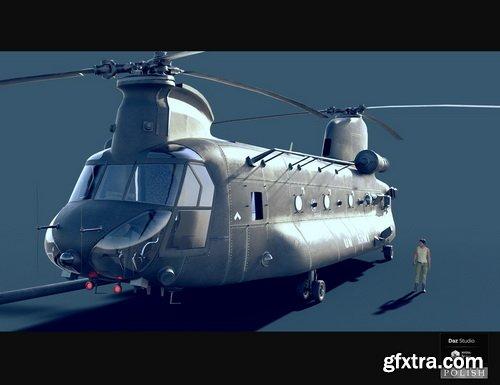 Daz3D - GH Transport Helicopter