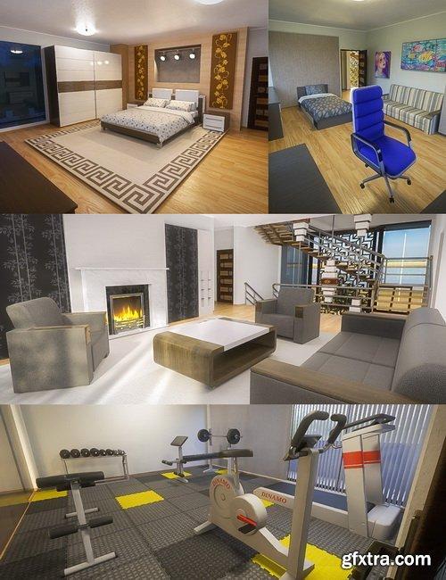 Daz3D - Modern House 2 Bundle