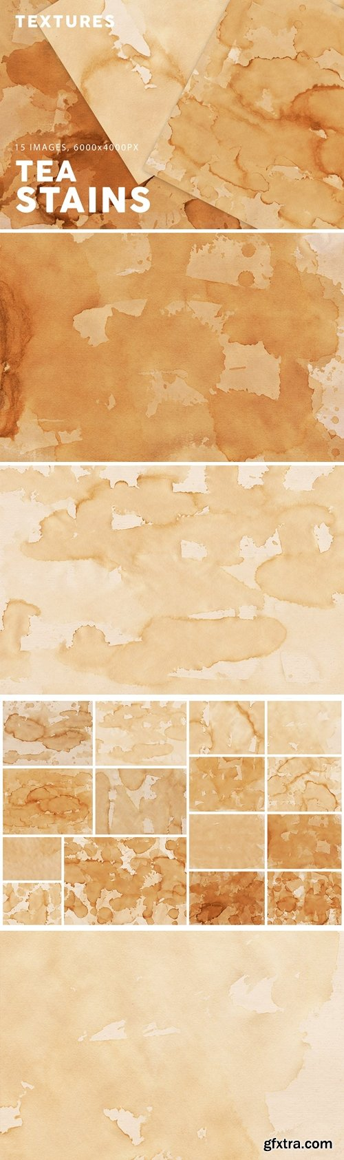 Tea Stains Paper Textures