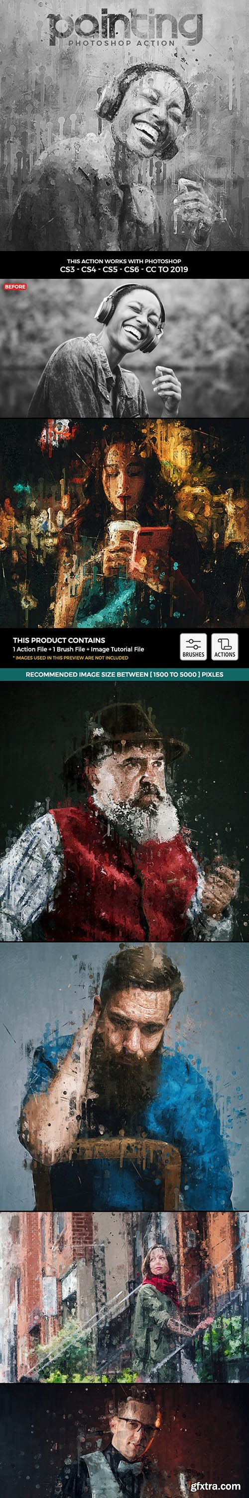 GraphicRiver - Painting Photoshop Action 24913485