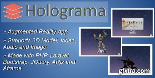 CodeCanyon - Holograma v1.0 - Augmented Reality Builder - 24125100