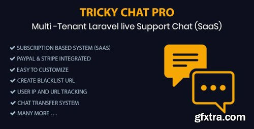 CodeCanyon - Tricky Chat Pro v1.0 - Multi Tenant Live Support Chat (SaaS) - 24088591