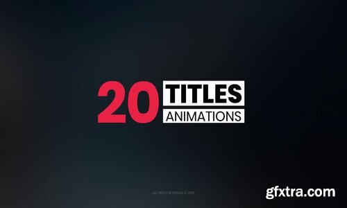 Videohive - 20 Simple Titles - 22793851