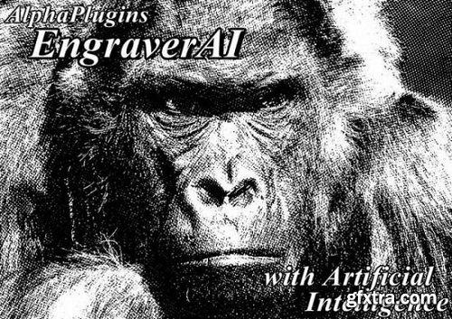 AlphaPlugins Engraver AI Plug-in for Photoshop 1.0