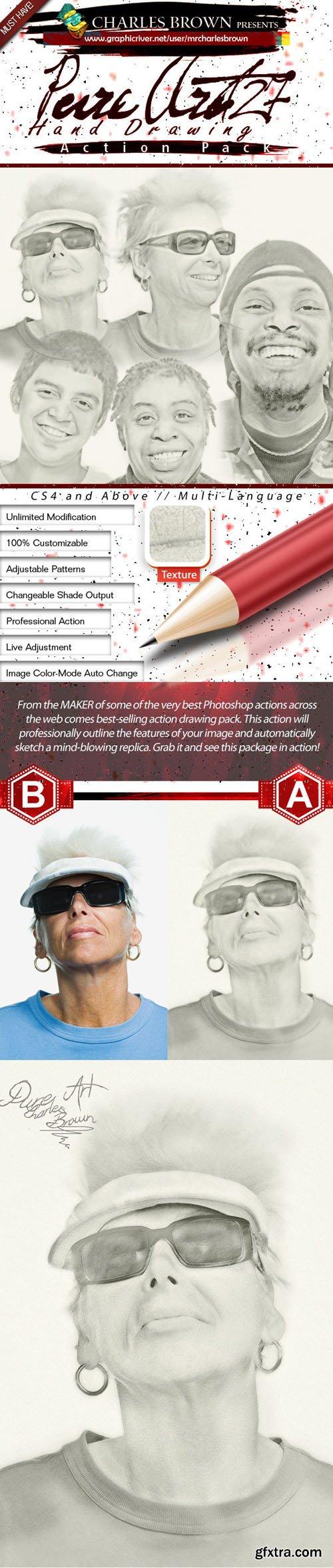 GR - Pure Art Hand Drawing 127 - Golf Pencil