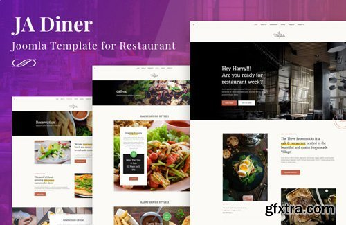 JoomlArt - JA Diner v1.0.3 - Joomla Template For Restaurant Pub, Or Cafe