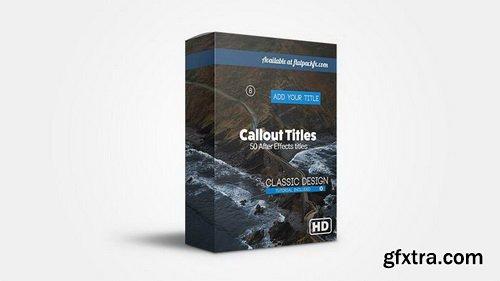FlatPackFx - Callout Pack - After Effects