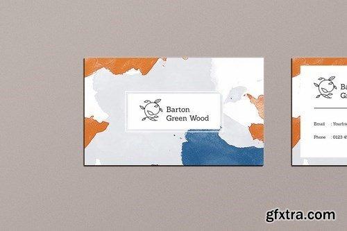 Business Card Watercolor Vol. 1