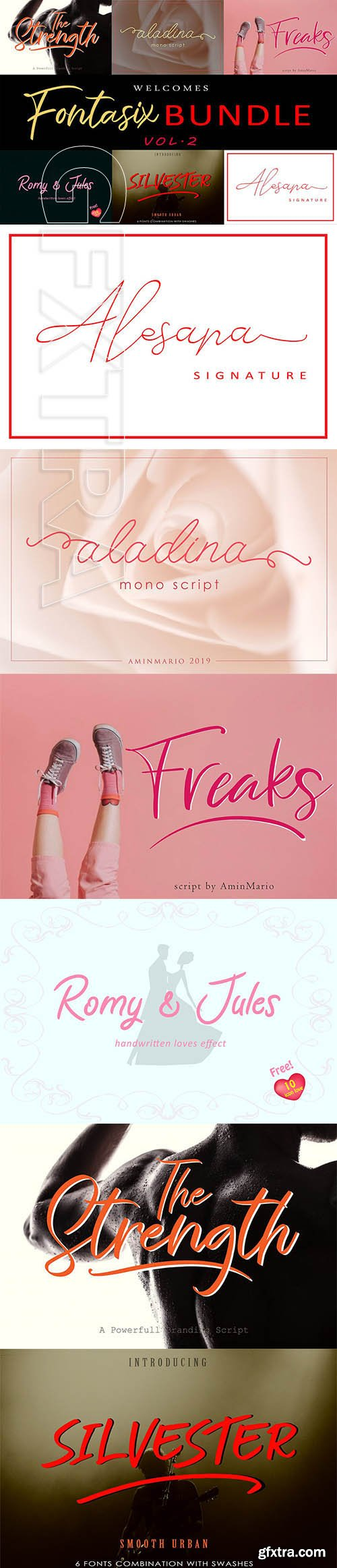 CreativeMarket - FONTASIX BUNDLE VOL.2 4240091