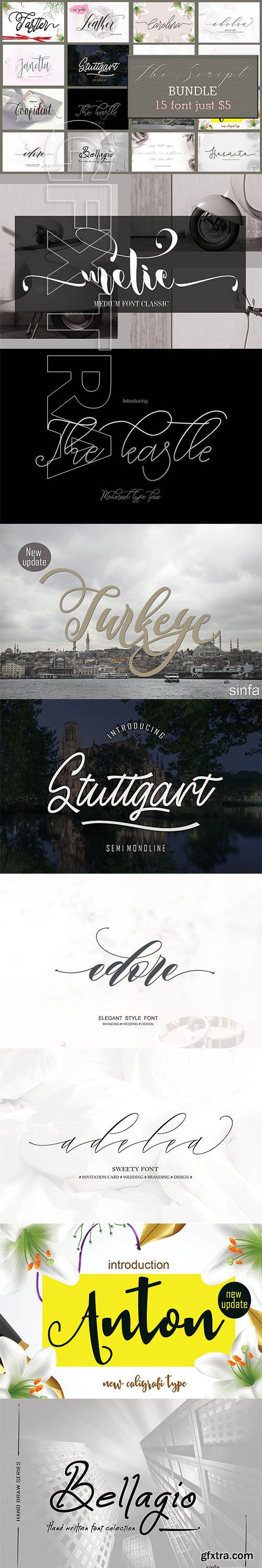 CreativeMarket - The Script Bundle 4242596