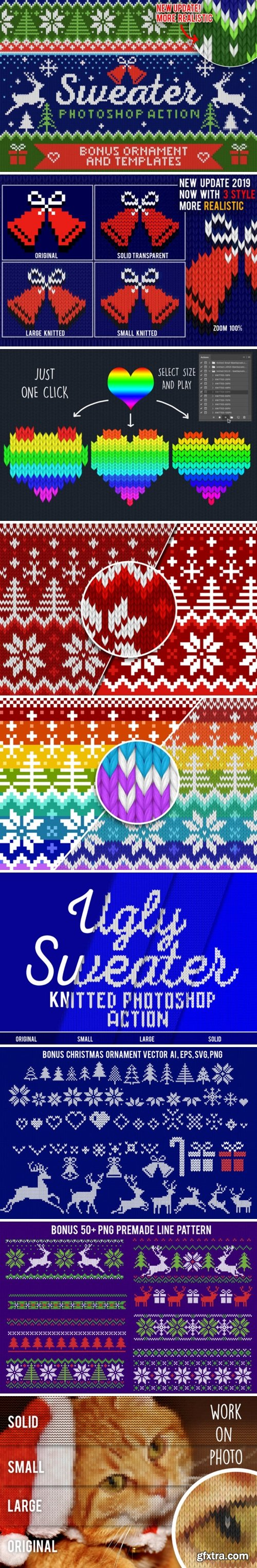 Knitted Effect Ugly Christmas Sweater 1949306