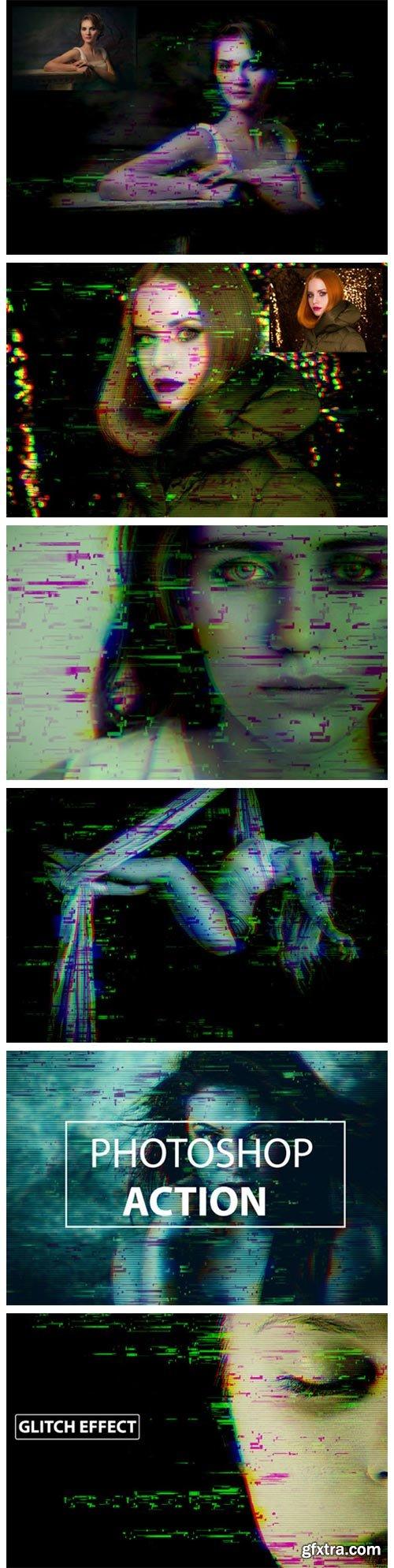 Glitch Distruction- Photoshop Action 1949294