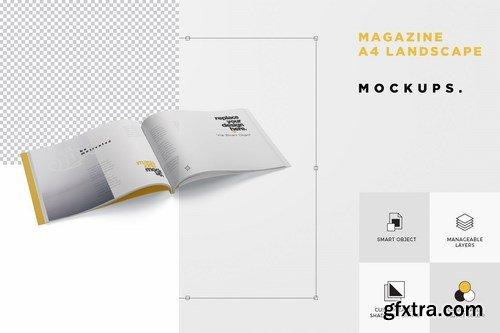 Magazine Mockup Set - A4 Landscape