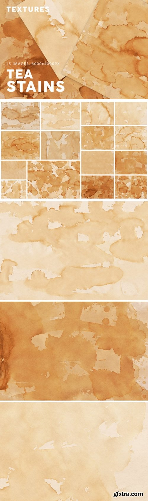 15 Tea Stain Paper Textures 1958644