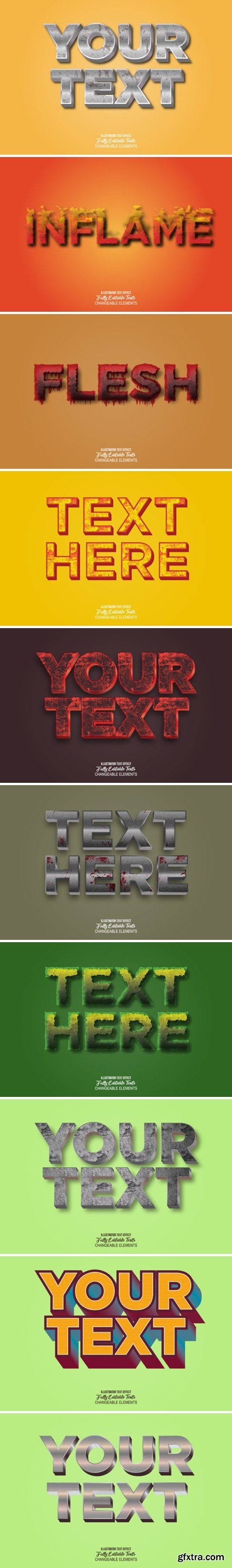 3D Realistic Text Effect Style