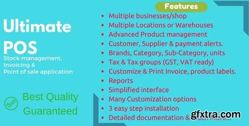 CodeCanyon - Ultimate POS v2.15 - Best Advanced Stock Management, Point of Sale & Invoicing application - 21216332 - NULLED