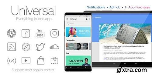 CodeCanyon - Universal v4.3.3 - Full Multi-Purpose Android App - 6512720