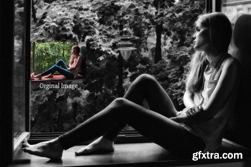 CreativeMarket - Pencil Touch - Photoshop Action 4126052
