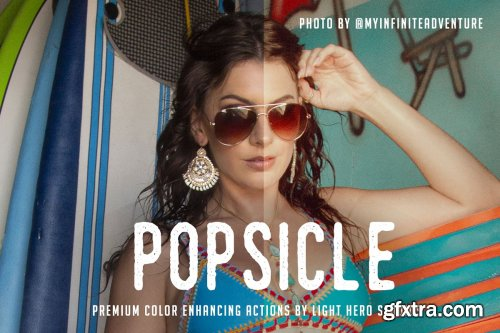 CreativeMarket - Popsicle Photoshop Action 4100061
