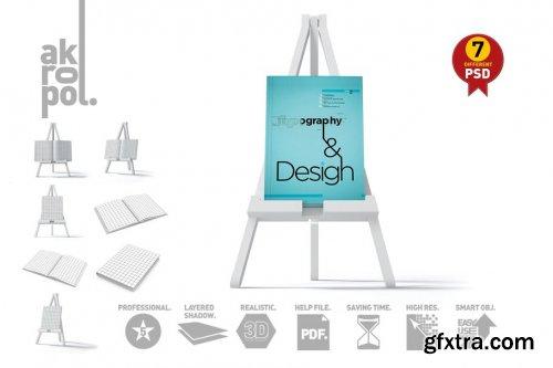 CreativeMarket - Book Mock-Up Set 3763724