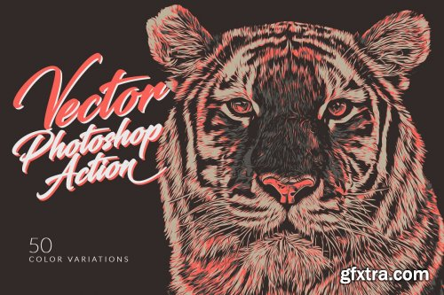 CreativeMarket - Vector Photoshop Action 4151289