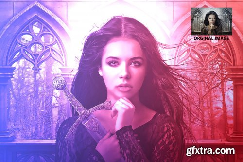 CreativeMarket - Color Gel Effect - Photoshop Action 4145587