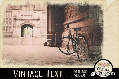 CreativeMarket - Vintage Text Clipping Masks & Tut 3752347