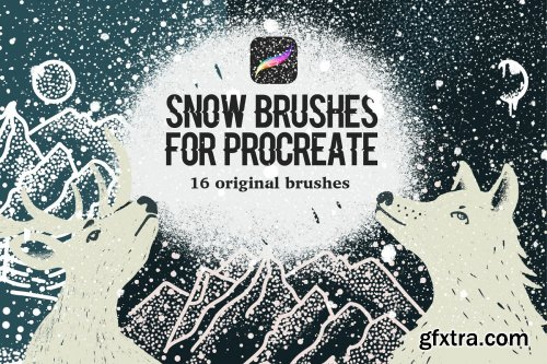 CreativeMarket - Snow Brushes for Procreate 4215077