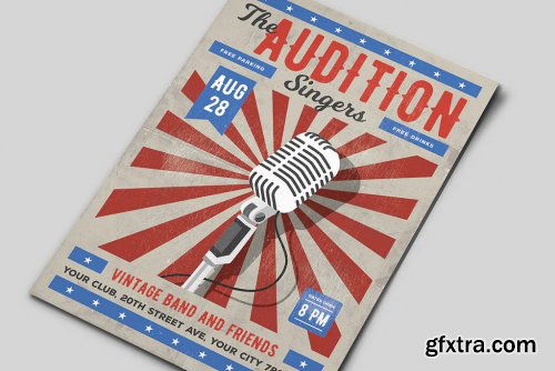 The Audition Flyer Template
