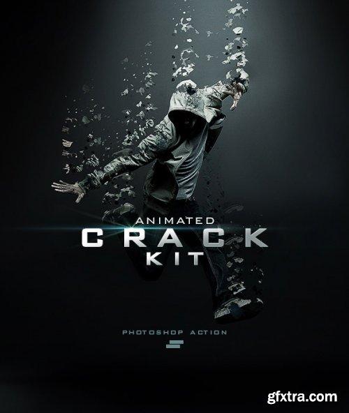 GraphicRiver - Gif Animated Crack Kit Photoshop Action