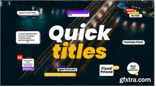 Quick Trendy Titles 4k 307162