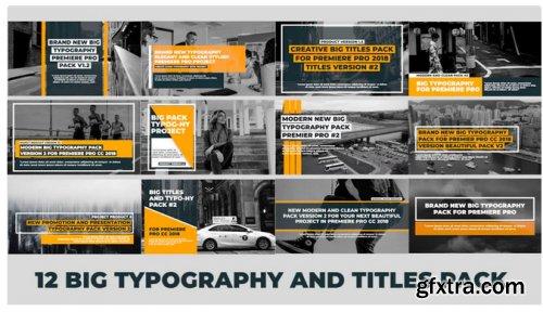 Typography Titles - Big V2 308628