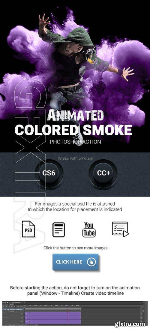 GraphicRiver - Animated Colored Smoke Photoshop Action 24833037