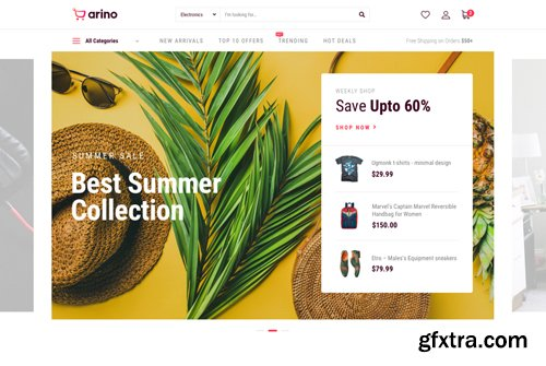 JoomShaper - Arino v1.0.0 - Joomla eCommerce Template for Online Stores & Shops