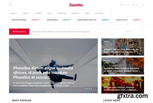 JoomShaper - Gazette v1.2 - News, Magazine, and Blog Joomla Template
