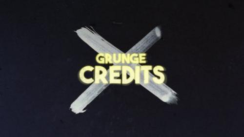 Videohive - Grunge Credits