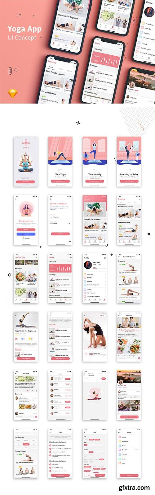 Yoga Fitness Mobile App UI Kit
