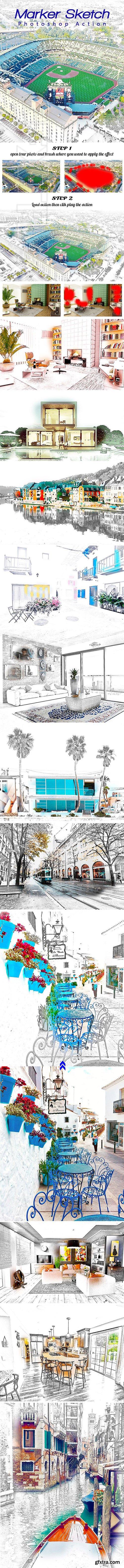 GraphicRiver - Marker Sketch Photoshop Action 24697465