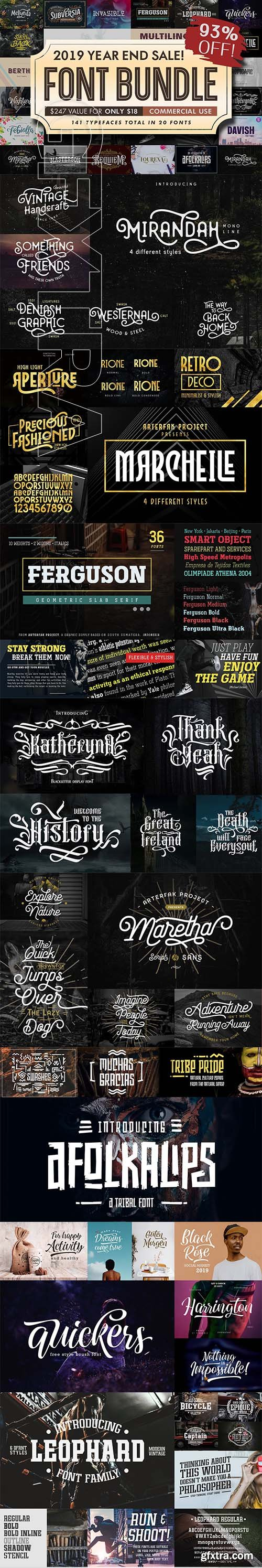 CreativeMarket - Font Bundle 2019 4245088