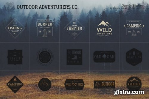 MightyDeals 150 Customizable Outdoor Adventurers Logos