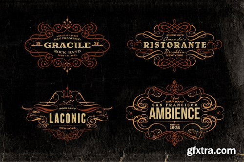 MightyDeals BUNDLE of 500+ Retro/Vintage Design Elements