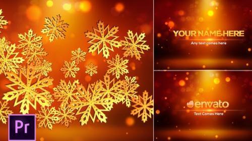 Videohive - Snowflakes Logo - Premiere Pro