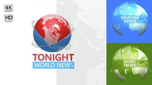 Videohive - Tonight World News