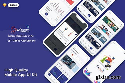Stadeum-Fitness Mobile App UI Kit (SKETCH)