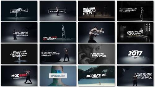 Videohive - Minimal Art Titles
