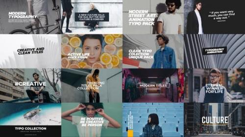 Videohive - Trendy Titles Pack