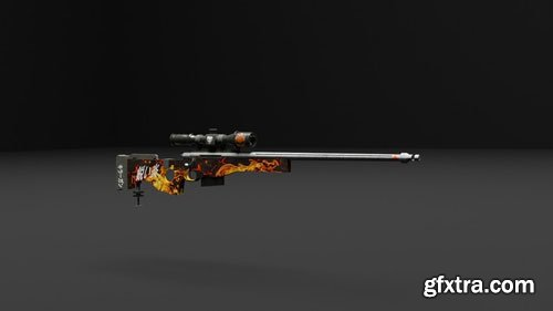 AWP Sniper Rifle Creation and Skin In Blender   Blender 2.8