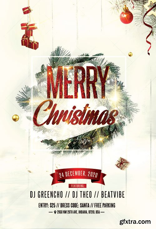 Christmas Celebration - Premium flyer psd template