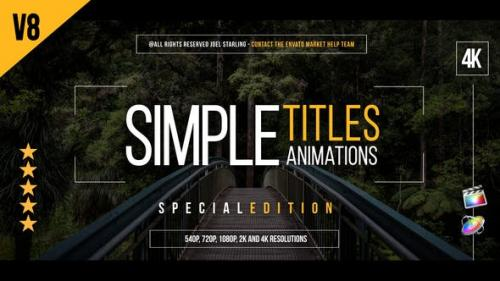 Videohive - Gold Simple Titles (Special Version) for FCPX