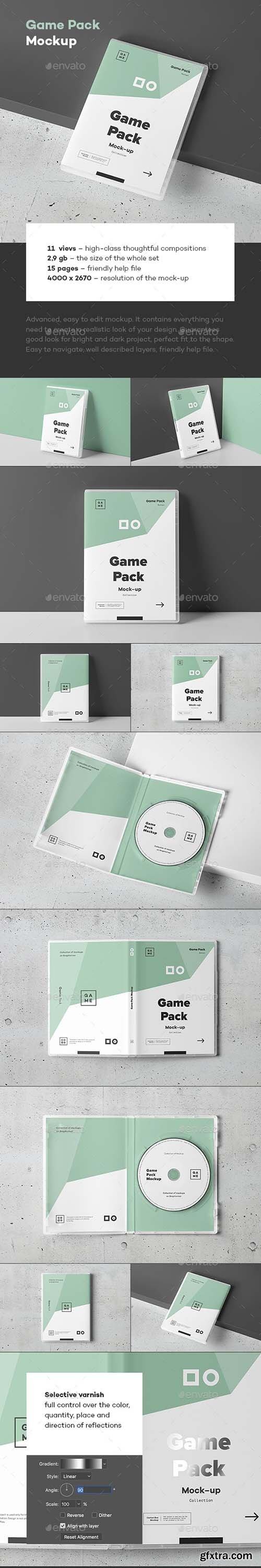 GraphicRiver - Game Disc Pack Mockup 25002372